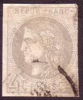 Cérès Emission De Bordeaux 4c Gris Report II - 1870 Bordeaux Printing