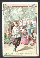 """Ancien Chromo Publicitaire - Chicorée AU CORDON BLEU - LA BASSEE - """" La Fête Du Soleil """"- Laponie Russe  13    // - Thee & Koffie"""