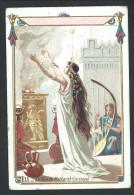 """Ancien Chromo Publicitaire - Chicorée AU CORDON BLEU - LA BASSEE - """" La Fête De Melkarth - Carthage - 11    // - Thé & Café"""