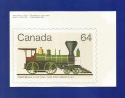 CANADA  1983 , Locomotive - Maximum Card - First Day 17 XI 1983 - 2 Scan - Maximumkaarten