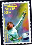 NEVIS   N° 631 * *   Jo 1992 Escrime Fichtel - Escrime