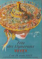 Fete Des Vignerons, Vevey Suisse. 2 Scans - Reclame