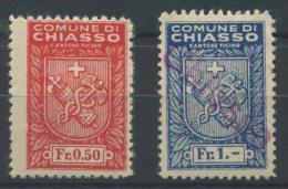 970 - CHIASSO Fiskalmarken - Steuermarken