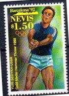 NEVIS   N° 632 * *   Jo 1992  Lancer Du Marteau Sedykh - Athletics
