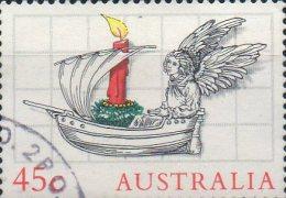 Australia 1985 Christmas 45c Angel In Ship Used - 1980-89 Elizabeth II