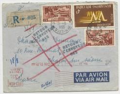 1955 - VIET-NAM - ENVELOPPE RECOMMANDEE De SAÏGON Avec COMPLEMENT EMA Pour CHALON SUR SAONE - RETOUR à L'ENVOYEUR - Viêt-Nam