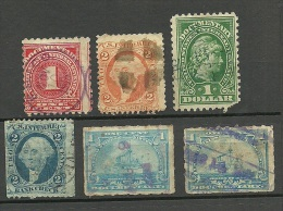 USA Ca 1890/1895 Documentaryies Revenue Tax Stamps Dienstmarken O - Officials