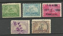 USA Ca 1890/1895 Documentaryies Revenue Tax Stamps O/* - Officials