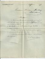 Vp68 Lettre De Banque Suisse CARRARD à Lausanne 1898 Pour Raccaud Gindroz - Banque & Assurance