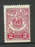 USA State Of Louisiana Tobacco Tax 2 C. For Schools (*) - Revenues