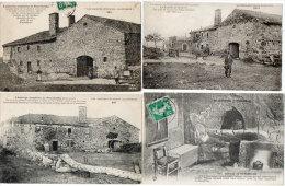 L'Auberge Sanglante De PEYREBEILLE - 4 CPA - L' Auberge Rouge -  Vues - Four    (85731) - Ohne Zuordnung