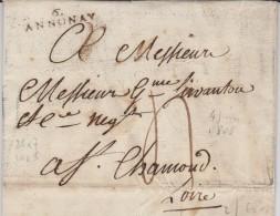 Marque Postale D´Annonay (Ardèche) De 1808 - Marcophilie (Lettres)