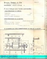 Plan Machine - Ateliers Staubli Frères - Faverges - Machines