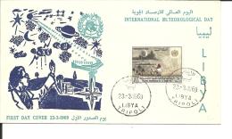 Lettre  Libye , Météorologie International 1969 (288) - Libia