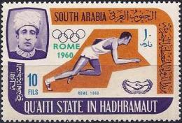 South Arabia (Qu'Aiti Of Hadhramaout) 1966 - Rome Olympics ( Mi 81A - YT 75 ) MNH** - Emirats Arabes Unis