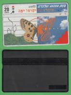 Israele Phone Cards 20 Units Butterfly - Israele