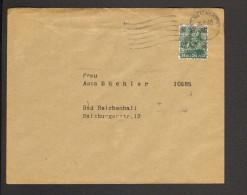 Bizone Ortsbrief Aus Bad Reichenhall Mit 16 Pfg.Arbeiter Bandaufdruck Vom 28.6.1948,Absender Bayerische Vereinsbank - Bizone