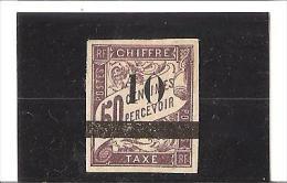 TIMBRES TAXE  DES COLONIES FRANCAISES DE 1893  Surchargés  N° 1 *  Charnière - Sénégal (1887-1944)