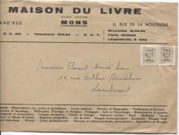 TP Preo 706(2) S/L.commerciale De La Maison Du Livre à Mons V..Lambusart AP907 - Typo Precancels 1951-80 (Figure On Lion)