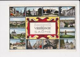 69 Villefranche Sur Saone Souvenir De ... Multi Vue 12 Vues - Villefranche-sur-Saone