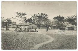 CPA ANIMEE, VUE PRINCIPALE DU POSTE DE LOUDIMA, CONGO FRANCAIS - Congo Français - Autres