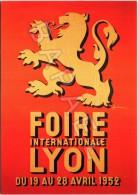 Affiche Sur Carte Postale De 1952 - Centenaire De La Foire De Lyon (1916-2016) - Palais De La Foire (69-Lyon) - Publicité