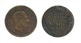 N2227 - Gand: Grand Festival D'Harmonies Et Fanfares, 1872 - Gemeentepenningen