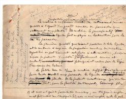 VP3538  - Tabac - Note Concernent Le Professeur Emile LAURENT à GEMBLOUX  Au Sujet De La Nicotine - Documents
