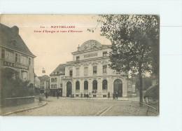 MONTBELIARD - Caisse D' Epargne Et Route D' Héricourt - Vue Différente - 2 Scans - Montbéliard