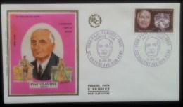 FDC 1968 - YT N°1553 - PAUL CLAUDEL - VILLENEUVE SUR FERE - FDC