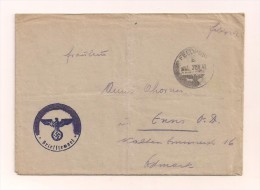 Feldpostbrief Samt Inhalt 22.4.1942 Vom Felde Nach Enns Ostmark -Stempel Geschwärzt - Deutschland