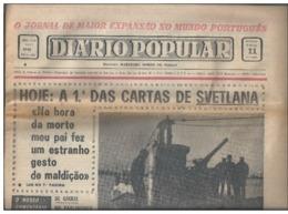 Letters Svetlana,Stalin's Daughter.Newspaper 'People's Daily'.Portugal.1967.Rare.Zeitun.Letters Svetlana,Stalins Tochter - Zeitungen & Zeitschriften
