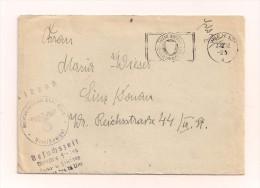 Feldpostbrief Samt Inhalt 7.12.1942 Vom Reserve Lazarett Wien Nach Linz/Donau - Deutschland
