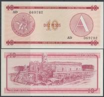 1985-BK-116 CUBA EXCHANGE CURRENCY 1985 10$ . A. UNC - Cuba