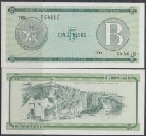 1985-BK-118 CUBA EXCHANGE CURRENCY 1985 5$ . B. UNC - Cuba
