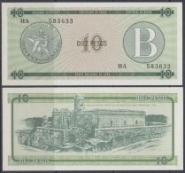 1985-BK-119 CUBA EXCHANGE CURRENCY 1985 10$ . B. UNC - Cuba