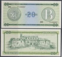 1985-BK-120 CUBA EXCHANGE CURRENCY 1985 20$ . B. UNC - Cuba