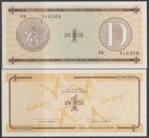 1985-BK-121 CUBA EXCHANGE CURRENCY 1985 1$ . D. UNC - Cuba