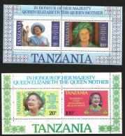 B)1985 TANZANIA, PICTURE, ROYAL, QUEEN ELIZABETH, BIRTHDAY,  CROWN, 85TH ANNIVERSARY QUEEN MOTHER ELIZABETH,  MNH. - Tanzania