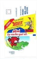 Etiquette  Fromage  La Vache Qui Rit  Mini Genial Ton Badge Asterix Aux Jeux Olympiques - Cheese