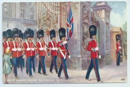 Scots Guards Leaving Buckingham Palace, London - Künstlerkarten