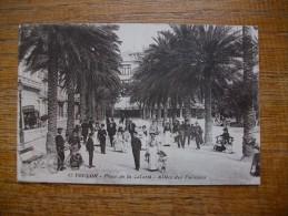 """Carte Assez Rare , Toulon , Place De La Liberté , Allées Des Palmiers """""""" Carte Animée """""""" - Toulon"""