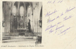 24 Dordogne Eymet Sanctuaire De L´Eglise Notre Dame 1901 BE - Autres Communes