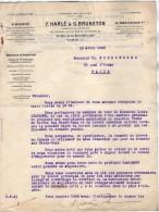 VP3539  - Tabac - Lettre De Mrs F.HARLE & G.BRUNETON Ingénieurs - Conseils à Paris Rue De La Rochefoucauld - Documents