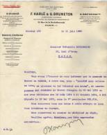VP3541  - Tabac - Lettre De Mrs F.HARLE & G.BRUNETON Ingénieurs - Conseils à Paris Rue De La Rochefoucauld - Documents