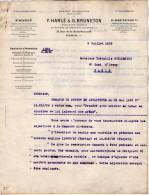 VP3542  - Tabac - Lettre De Mrs F.HARLE & G.BRUNETON Ingénieurs - Conseils à Paris Rue De La Rochefoucauld - Documents