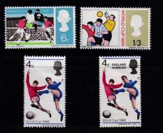 UK, 1966, Mint  Hinged Stamps , World Cup Soccer, 422-424, #14480  (4 Values) - 1952-.... (Elizabeth II)