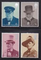UK, 1974, Mint  Hinged Stamps , Sir Winston Churchill, 659-662, #14482 - 1952-.... (Elizabeth II)