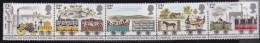 UK, 1980, Mint  Hinged Stamps In Strip , Railways, 830-834, #14485 - 1952-.... (Elizabeth II)