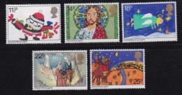 UK, 1981, Mint  Hinged Stamps, Christmas, 895-899, #14487 - 1952-.... (Elizabeth II)